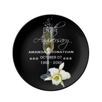 30th Pearl Wedding Anniversary Commemorative Plate