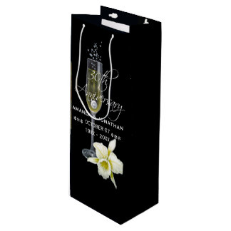 30th Pearl Wedding Anniversary Party Gift Wine Gift Bag