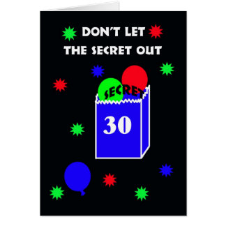 30th Surprise Birthday Party Invitation -- Secret