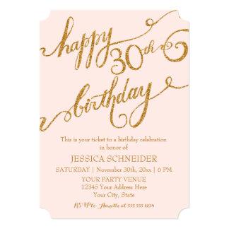 30th, Thirtieth Birthday Party Ticket Celebration 13 Cm X 18 Cm Invitation Card
