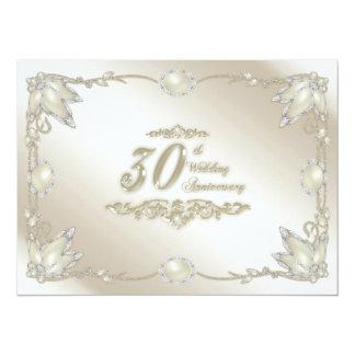 "30th Wedding Anniversary Invitation 5.5"" X 7.5"" Invitation Card"