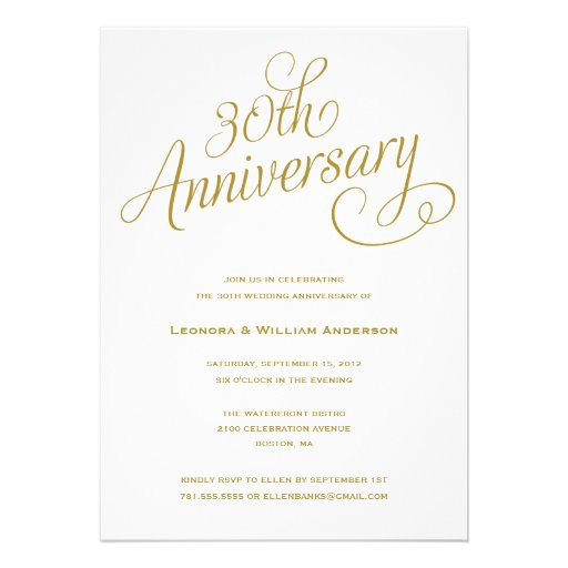expensive wedding invitation for you 30th wedding anniversary