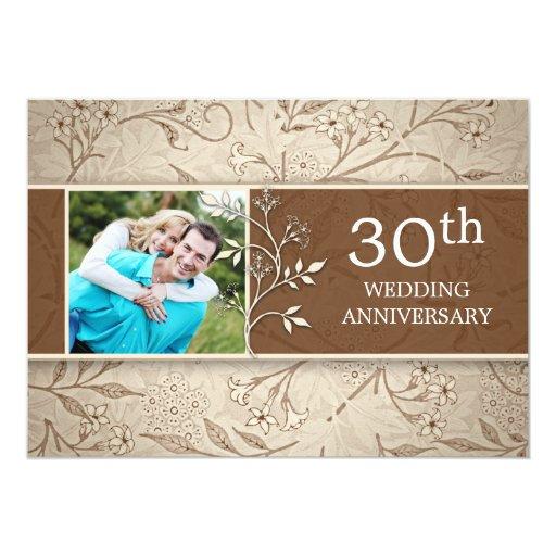 30th Wedding Anniversary Invitations: 30th Wedding Anniversary Photo Invitations 13 Cm X 18 Cm