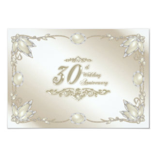 30th Wedding Anniversary RSVP Announcements