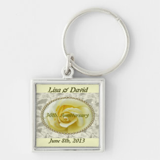 30th wedding anniversary save the date key chain w