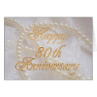 30th wedding anniversary with lace and pearls card