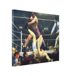 30x24 Vintage Art Sports Boxing 1924 Canvas