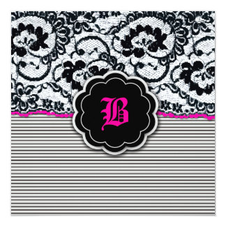 311-Alluring Lace - Hot Pink Card