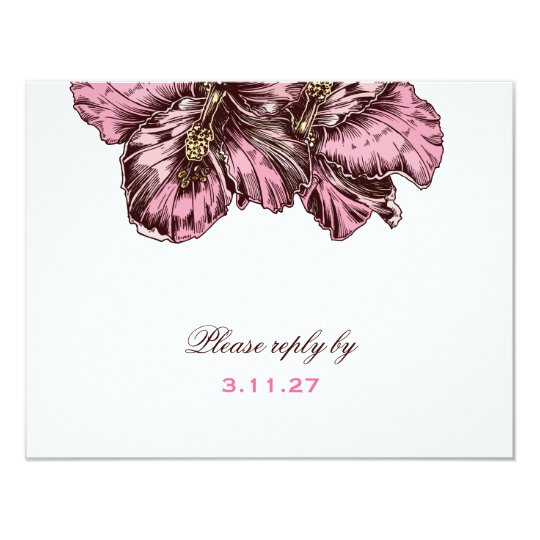 311-Aloha Hibiscus RSVP Card
