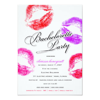 311-Bachelorette Party - Colorful Kisses Card