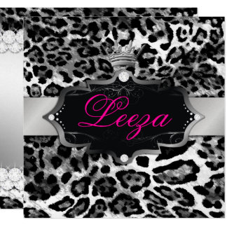 311-Baroque Princess Leopard Metallic Card