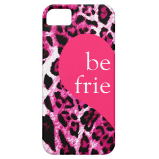 311 Best Friends Pink Leopard Left Side Barely There iPhone 5 Case