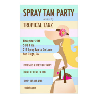311 Bikini Girl Spray Tan Party Flyer