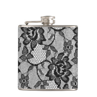 311 Black Lace Girly Flask