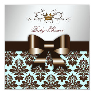 311 Blackberry Brown Damask Blue Brown Card