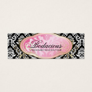 311 Bodacious Boutique Black Hang Tag Mini Business Card