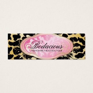 311 Bodacious Boutique Golden Leopard Hang Tag Mini Business Card