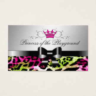 311 Bow-licious Hot Lime Pink Leopard