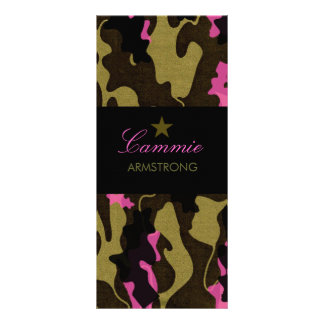 311 Camo Star Pink Full Color Rack Card