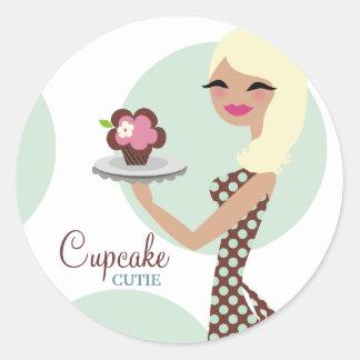 311-Candie the Cupcake Cutie Black Straight Hair Stickers