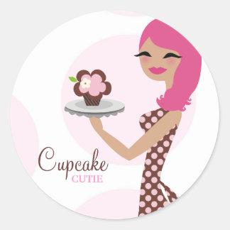 311-Candie the Cupcake Cutie Pink Sticker