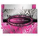311-C'est Luxueux | Hot  Pink Zebra | Sweet 16 Card