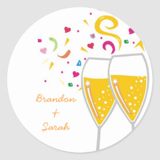311-Champagne Toast Sticker