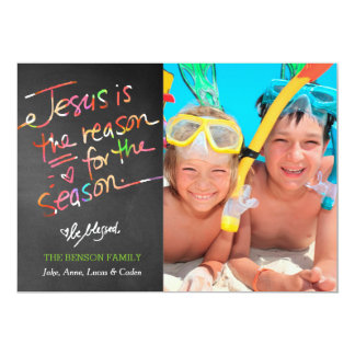 311 Cheerful Jesus is the Reason for the Season Card