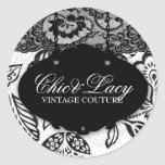 311 Chic and Lacey Black and White Stickers
