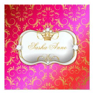 311 Ciao Bella Golden Cherry Cake Kiss Personalized Invitation