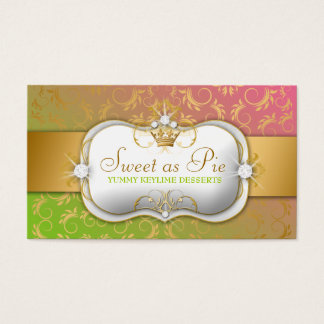 311-Ciao Bella Golden Divine Lollipop Fade Business Card