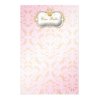 311 Ciao Bella Golden Divine Pink Customised Stationery