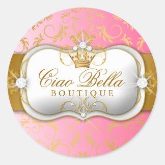 311 Ciao Bella Golden Divine Pink Fade Round Sticker