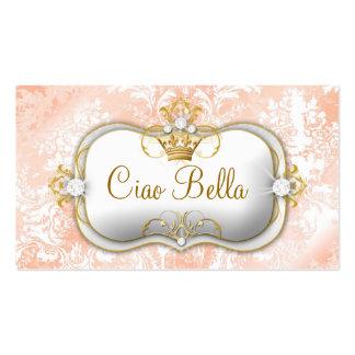 "311 Ciao Bella ""Peaches & Cream"" Vintage Chic Business Card Template"
