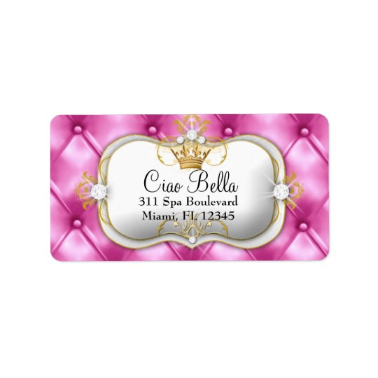 311 Ciao Bella Pink Tuft Address Label