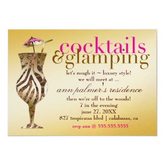 311 Cocktails & Glamping Gold Metallic Card