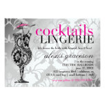 311 Cocktails & Lingerie Lace Metallic Personalized Invite