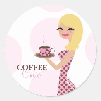 311 Coffee Cutie Blonde Wavy Sticker