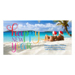 311 Colourful Happy New Year Card Personalized Photo Card