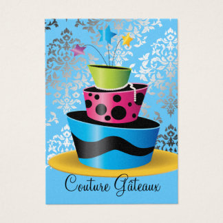 311 Couture Gâteaux Multi Blue Premium Pearl Paper Business Card
