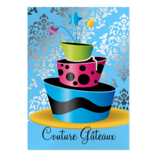 311 Couture Gâteaux Multi Blue Premium Pearl Paper Business Card Templates