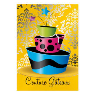 311 Couture Gâteaux Multi Yellow Pearl Paper Pack Of Chubby Business Cards