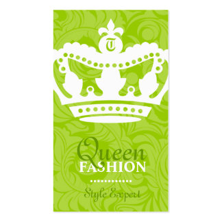 311-Crown Couture Monogram Lime Pack Of Standard Business Cards