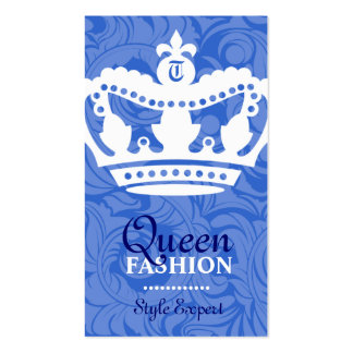 311-Crown Couture Monogram Ocean Business Cards
