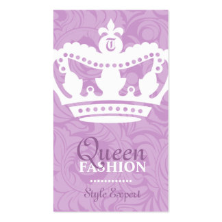 311-Crown Couture Monogram Purple Business Card Templates
