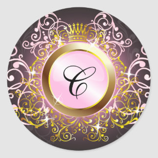 311 Crowning Moment Pink Radiance Classic Round Sticker