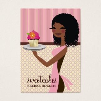 311 Cupcake Cutie African American Pink Business Card