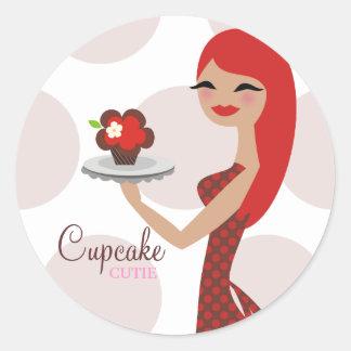 311 Cupcake Cutie Bakery Round Sticker