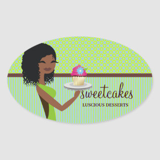 311 Cupcake Cutie Blue Green African American Sticker