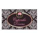 311-Cupcake Divine Solid Damask Business Cards